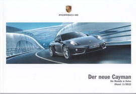 Cayman/Cayman S pricelist, 66 pages, 11/2012, German