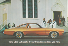 Cutlass S postcard, USA, 1973