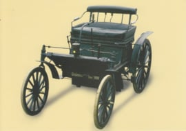 """Daimler chain drive """"Schrödter"""" car 1892, Classic Car(d) of the month 8/2002, Germany"""