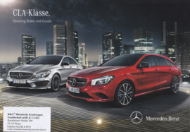 CLA-Klasse Shooting Brake & Coupé brochure, 78 pages, 03/2015, German language