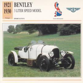 Bentley 3 Liter Speed model card, Dutch language, D5 019 03-02
