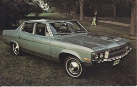 Matador 4-Door Sedan, US postcard, standard size, 1971