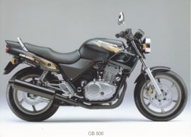 Honda CB 500 postcard, 18 x 13 cm, no text on reverse, about 1994