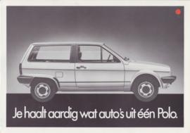 Polo 3-door Comfort & Smash folder, 4 pages,  A4-size, Dutch language, 2/1983
