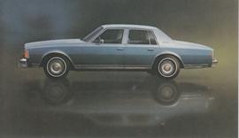 Caprice Classic Sedan,  US postcard, standard size, 1977