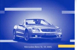 Mercedes-Benz SL 55 AMG, A6-size postcard, IAA 2001