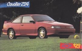 Cavalier Z24, US postcard, standard size, 1993