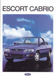 Escort Cabriolet brochure, 16 pages, A4-size, 02/1993, German language