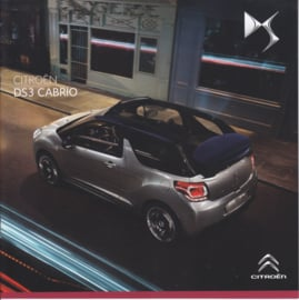 DS3 Cabrio brochure, 12 pages, about 2014, Dutch language