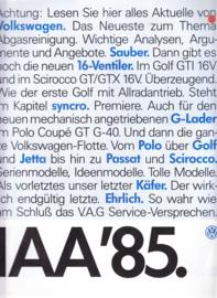 Program brochure, 32 pages,  A4-size +, German language, 09/1985