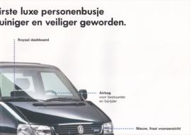Caravelle brochure, 8 pages,  A4-size, Dutch language, about 1995