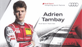 Racing driver Adrien Tambay, postcard 2013 season, English language