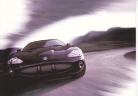 XK R Coupe, large postcard, 16 x 11 cm, Jaguar-racing set