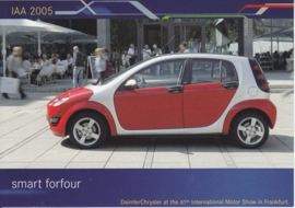 Smart Forfour, A6-size postcard, IAA 2005