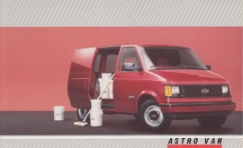 Astro Cargo Van,  US postcard, large size, 19 x 11,75 cm, 1988