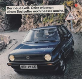 Golf II intro brochure, 16 pages,  A5-size +, German language, 8/1983