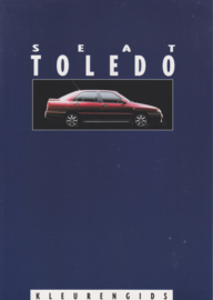 Toledo colours leaflet, 2 pages, about 1994, A4-size, Dutch language