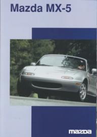 MX-5 Cabriolet brochure, 8 pages + specs., 05/1997, German language, Swiss market