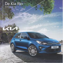 Rio pricelist brochure, 8 pages, 01/2021, Dutch language