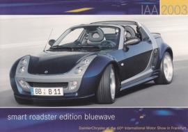 Smart Roadster Edition Bluewave, A6-size postcard, IAA 2003