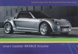 Smart Roadster Brabus Xclusive, A6-size postcard, Geneva 2005