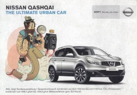 Qashqai postcard,  DIN A6-size, about 2012, German language