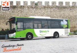 Otokar Vectio larger size coach postcard, A6-size, English language