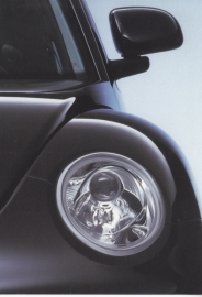 New Beetle postcard,  A6-size, German language, 1998