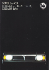 Delta GT/LX/HF Turbo brochure, A4-size, 12 pages, II/1987, German language (Swiss)