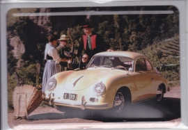 Porsche Classic - 356 Coupe, metal postcard with white envelope, factory-issued