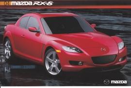 RX-8 Sports Car, 2004, US postcard, A5-size