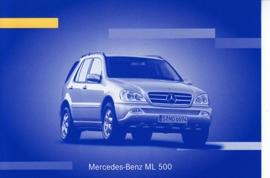 Mercedes-Benz ML 500, A6-size postcard, IAA 2001