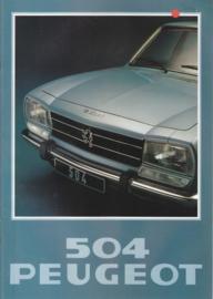 504 Sedan brochure, 20 pages, A4-size, 1978, Dutch language