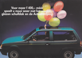 Polo Action brochure, A4-size, 4 pages, Dutch language, 03/1991