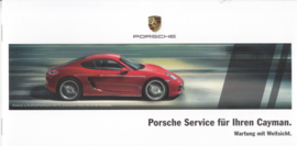 Cayman Service brochure, 12 small pages, 12/2014, German