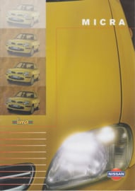Micra Lima special edition folder, 4 pages, about 1999, Dutch language