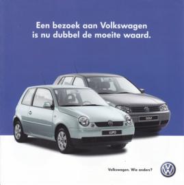 Lupo Cambridge & Golf Oxford brochure, square, 6 pages, 8/2002, Dutch language