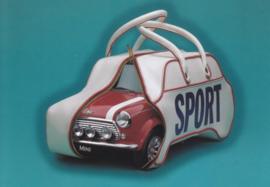 Classic Mini merchandise postcard,  DIN A6-size, English language