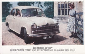 Cowley 4-door Sedan, standard size postcard, UK, early 1960s