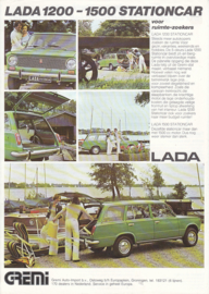 1200/1500 Stationcar leaflet, 2 pages, about 1978, Dutch language