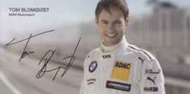 DTM driver Tom Blomqvist, oblong autogram card, 2015, German/English