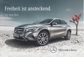 GLA, A6-size double postcard, factory-issued, 03/2014, German