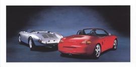 Boxster S & 550 Spyder,  foldcard, 2000, WVK 168 500
