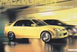 Mazdaspeed Protegé, 2003.5, US postcard, A5-size