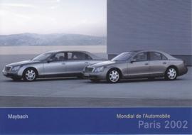 Mayback 57 & 62, A6-size postcard, Paris 2002