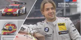 DTM driver Augusto Farfus, oblong autogram card, 2016, German/English
