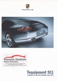 911 Tequipment (997) brochure, 28 pages, 05/2004, German