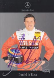 Daniel de la Rosa - DTM 2006 - auto gram postcard, German
