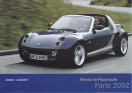 Smart Roadster, A6-size postcard, Paris 2002