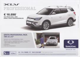 XLV Professional leaflet, 2 pages, Dutch/French language, 10/2016, Belgium
